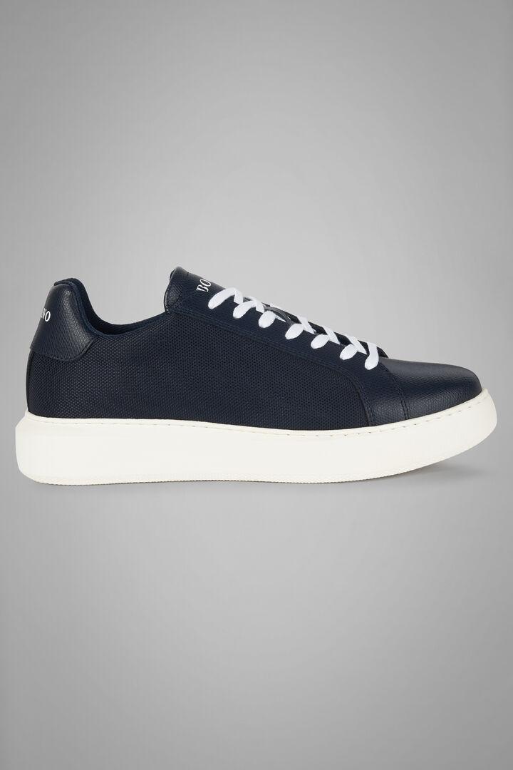 Sneakers En Cuir Et Nylon Extra Léger, bleu marine, hi-res