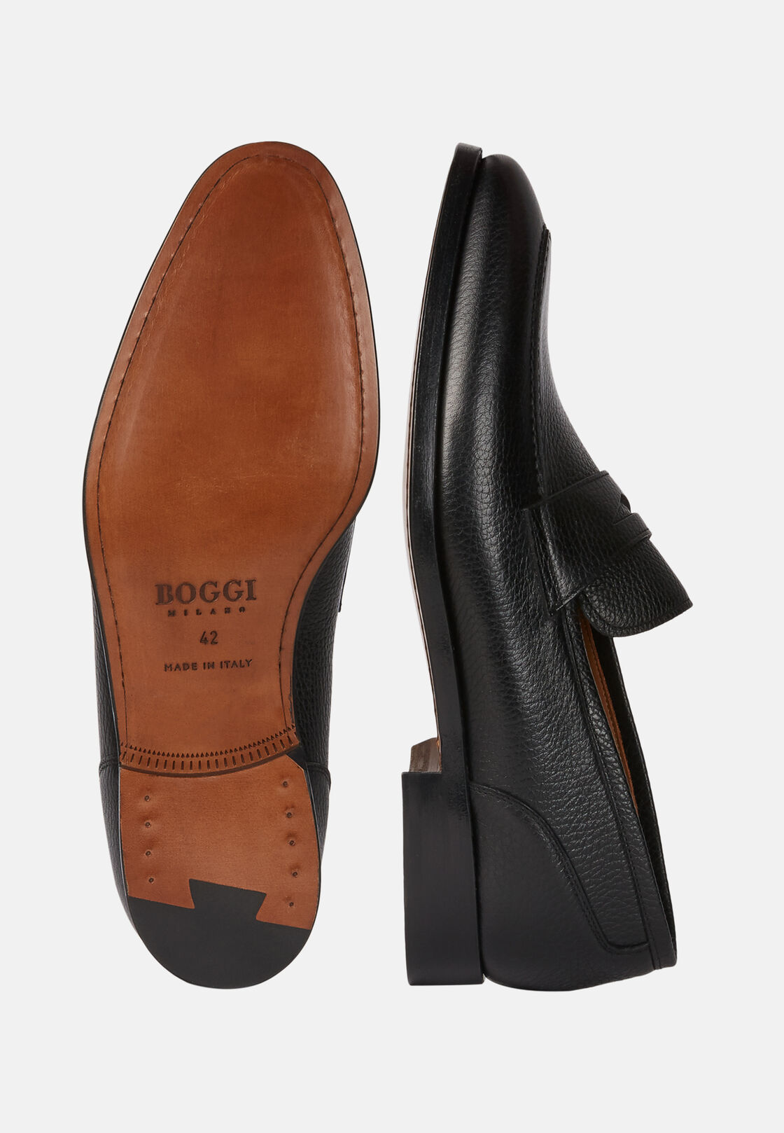 Loafer aus bottalata-leder, Schwarz, hi-res