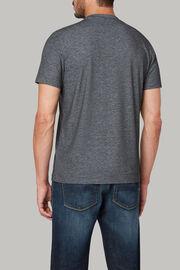 T-shirt aus baumwolljersey und nylon-tencel, Holzkohle, hi-res