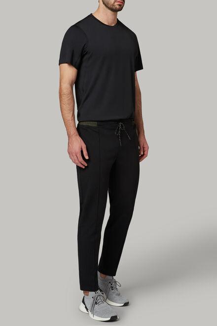 Hose aus technischem und elastischem interlock, Schwarz, hi-res