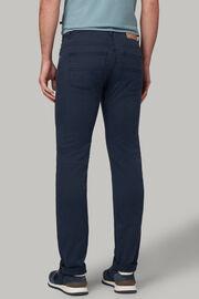Beige 5 pocket-jeans aus elastischem baumwoll-tencel, Navy blau, hi-res