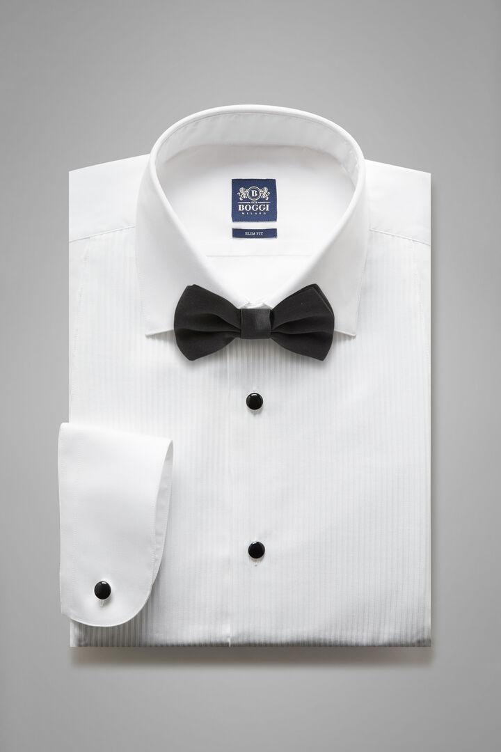 Chemise Blanche À Col Londonien Coupe Ajustée, blanc, hi-res