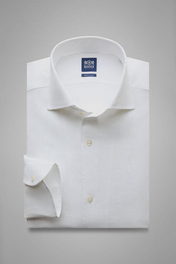 Hemd Weiss Mit Capri-Kragen Regular Fit, Weiß, hi-res