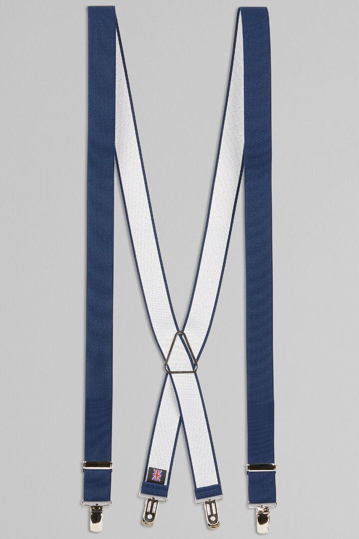 Elasticated Braces, Blue, hi-res