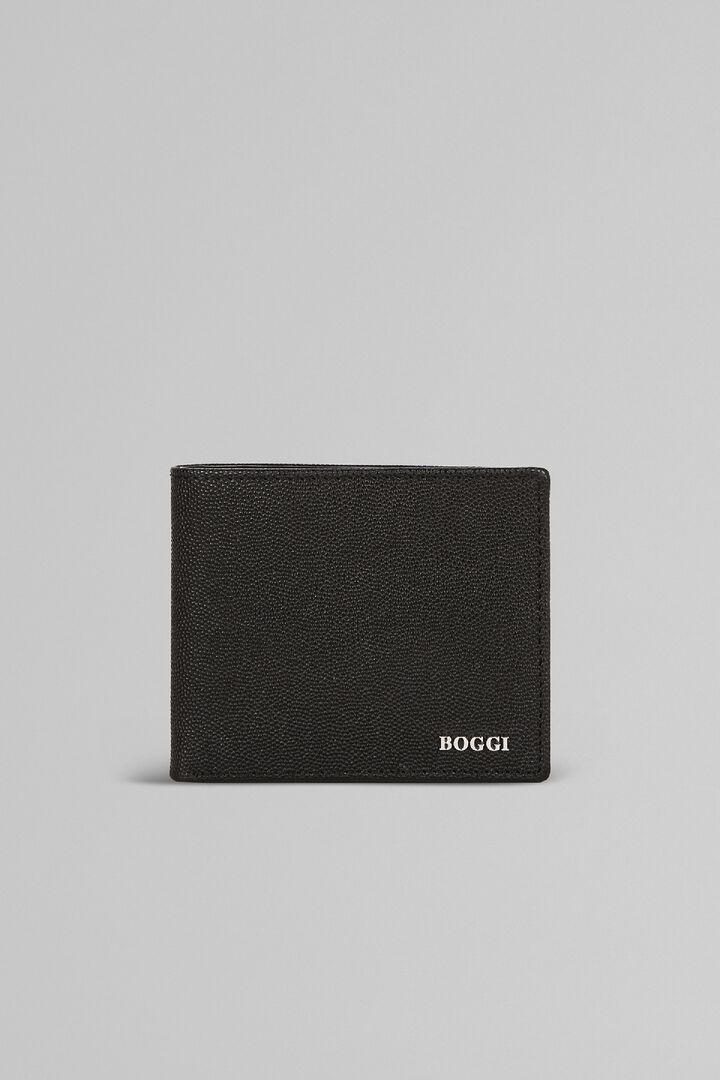 Brieftasche Mit 8 Fächern Aus Leder Mit Kaviarprägung, Schwarz, hi-res