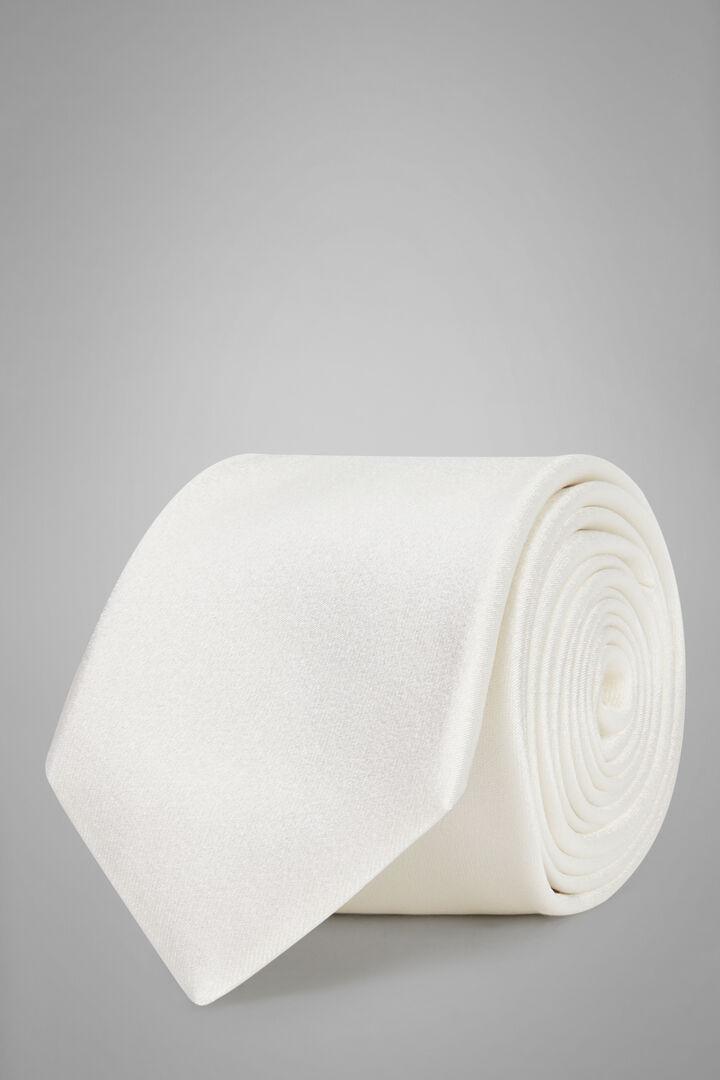 7 Cm Silk Satin Tie, Cream, hi-res