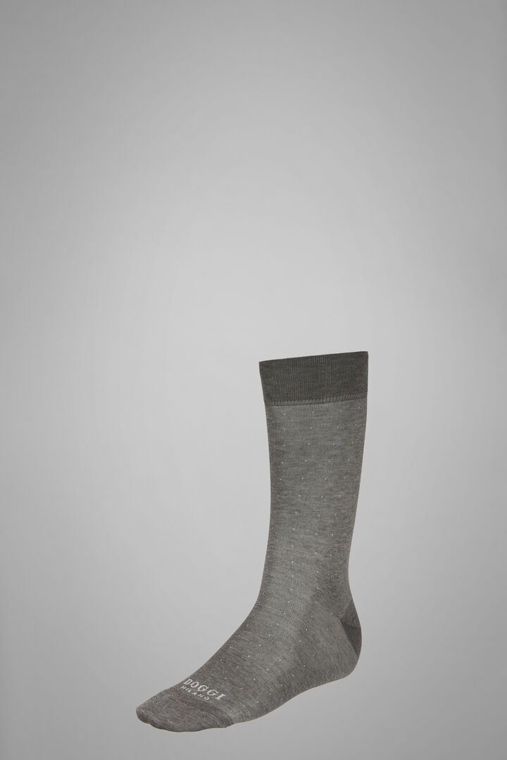 Short Socks With Micro Polka Dot Motif, Light grey, hi-res