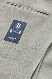 Blazer Grau Bari Aus Baumwoll-Crepe-Jersey, Hellgrau, hi-res