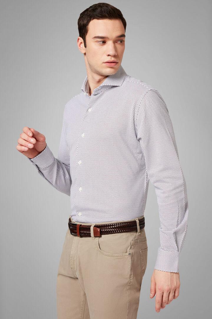open collar brown-blue polo shirt regular fit, Dark brown - Blue, hi-res
