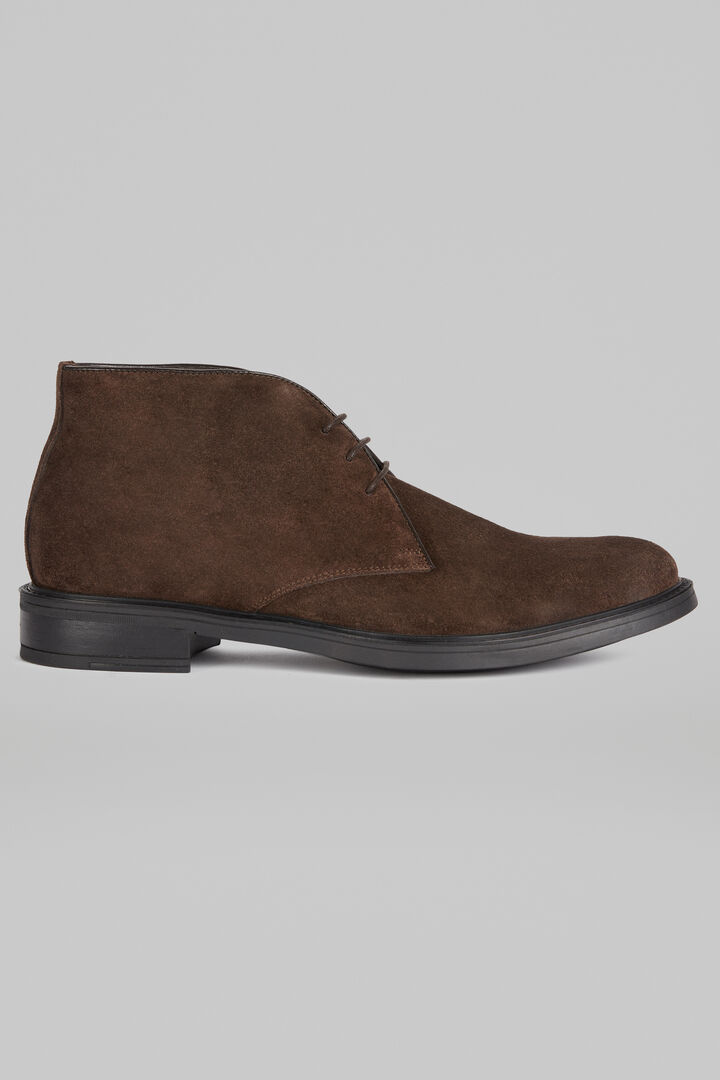 Suede Ankle Boots, Dark brown, hi-res