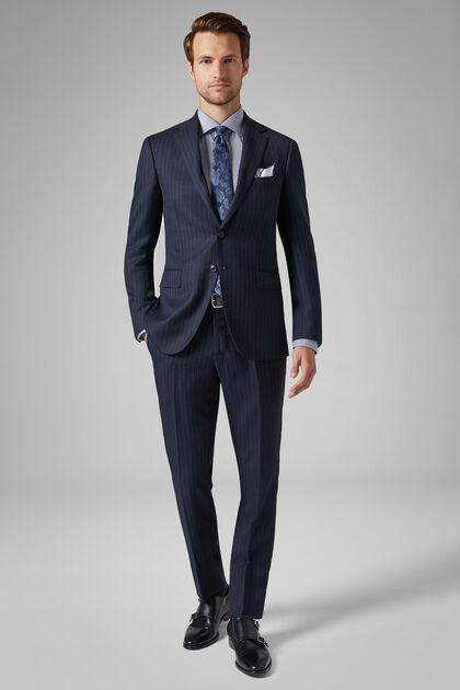 Blue Wool Paris Suit, Blue, hi-res