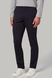 Pantaloni in jersey di lana regular fit, Navy, hi-res