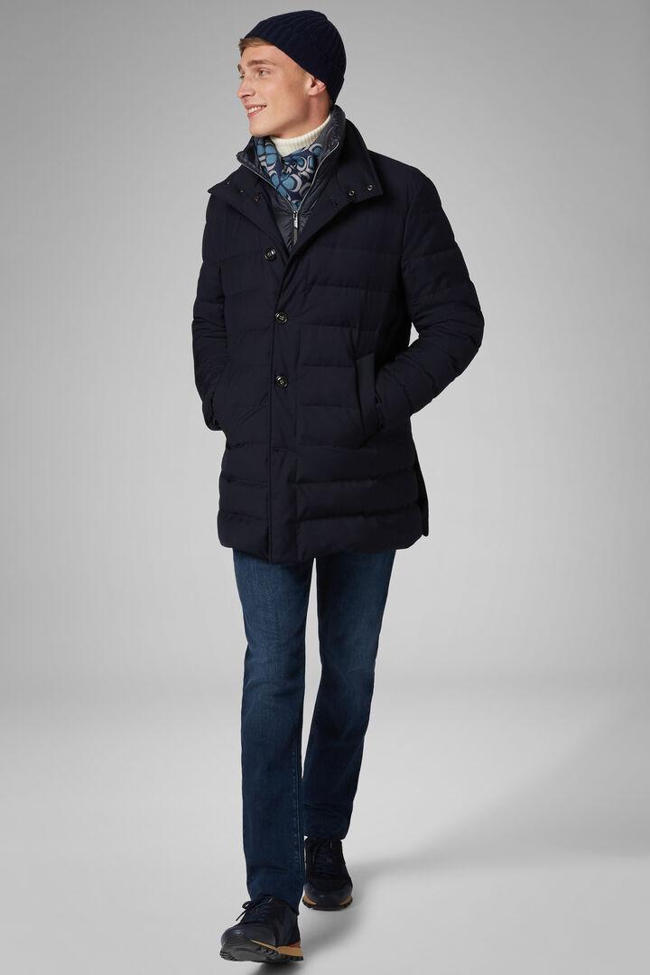 Manteau Rembourré De Plumes Technique Avec Gilet, bleu marin, hi-res