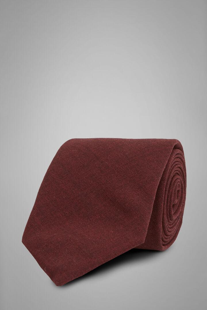 Einfarbige Krawatte Aus Technischer Wolle, Burgund, hi-res