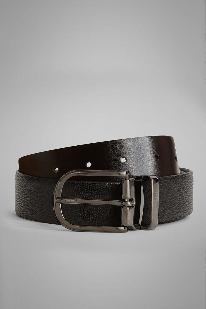 Cintura Reversibile In Pelle Stampa Caviar, , hi-res