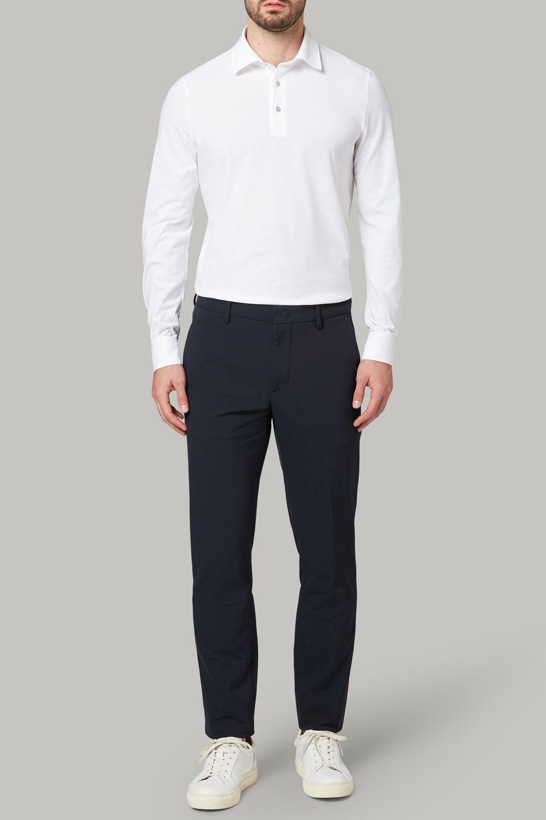 Hose aus nylonstretch regular fit, Navy blau, hi-res