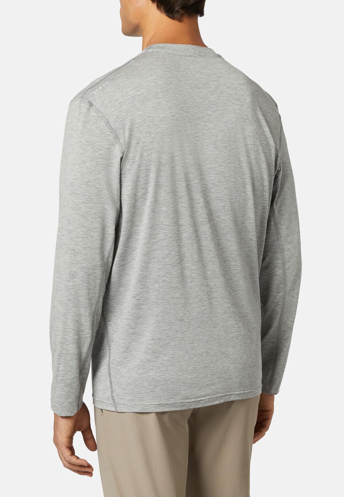 T-shirt aus elastischem modal carbon lange ärmel, Grau, hi-res