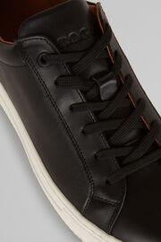 Sneaker In Pelle Liscia, Nero, hi-res