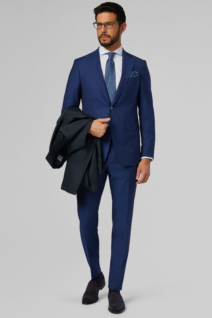 Anzug Blau Paris Aus Reiner Wolle, Blau, hi-res