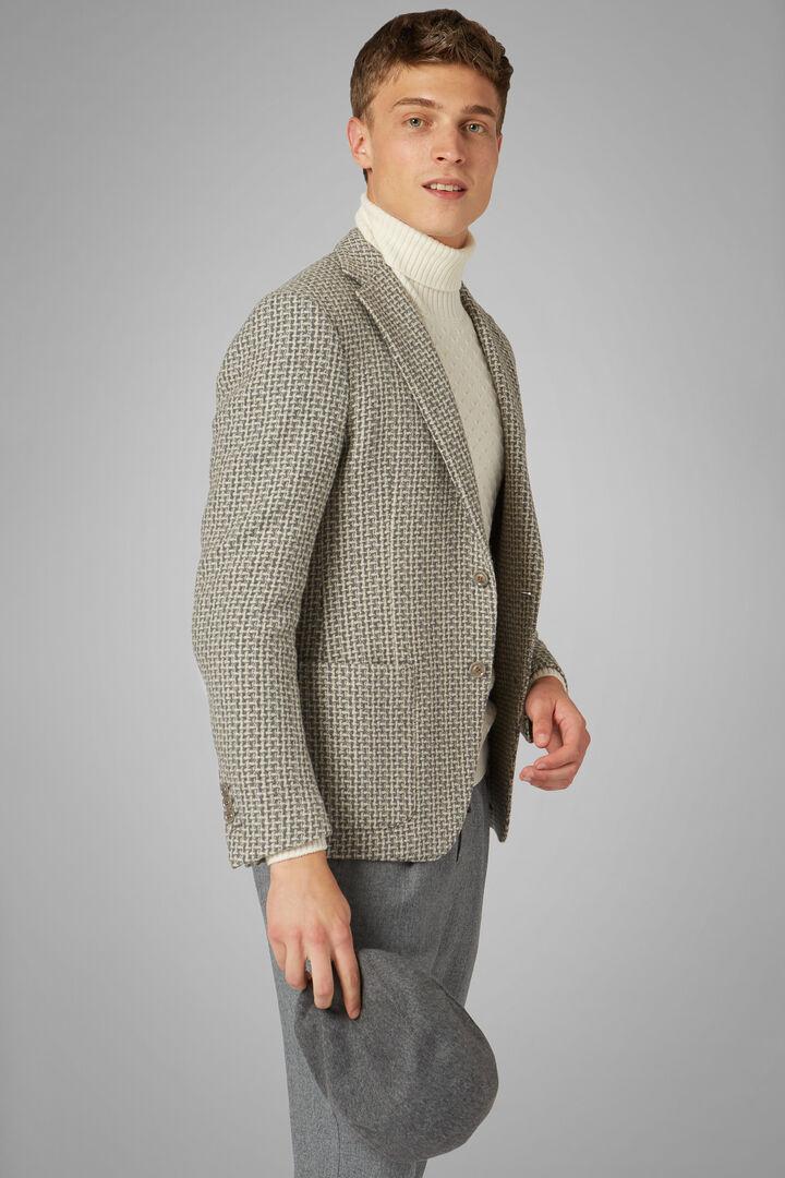 Grey Wool Blend Aria Blazer, Grey, hi-res