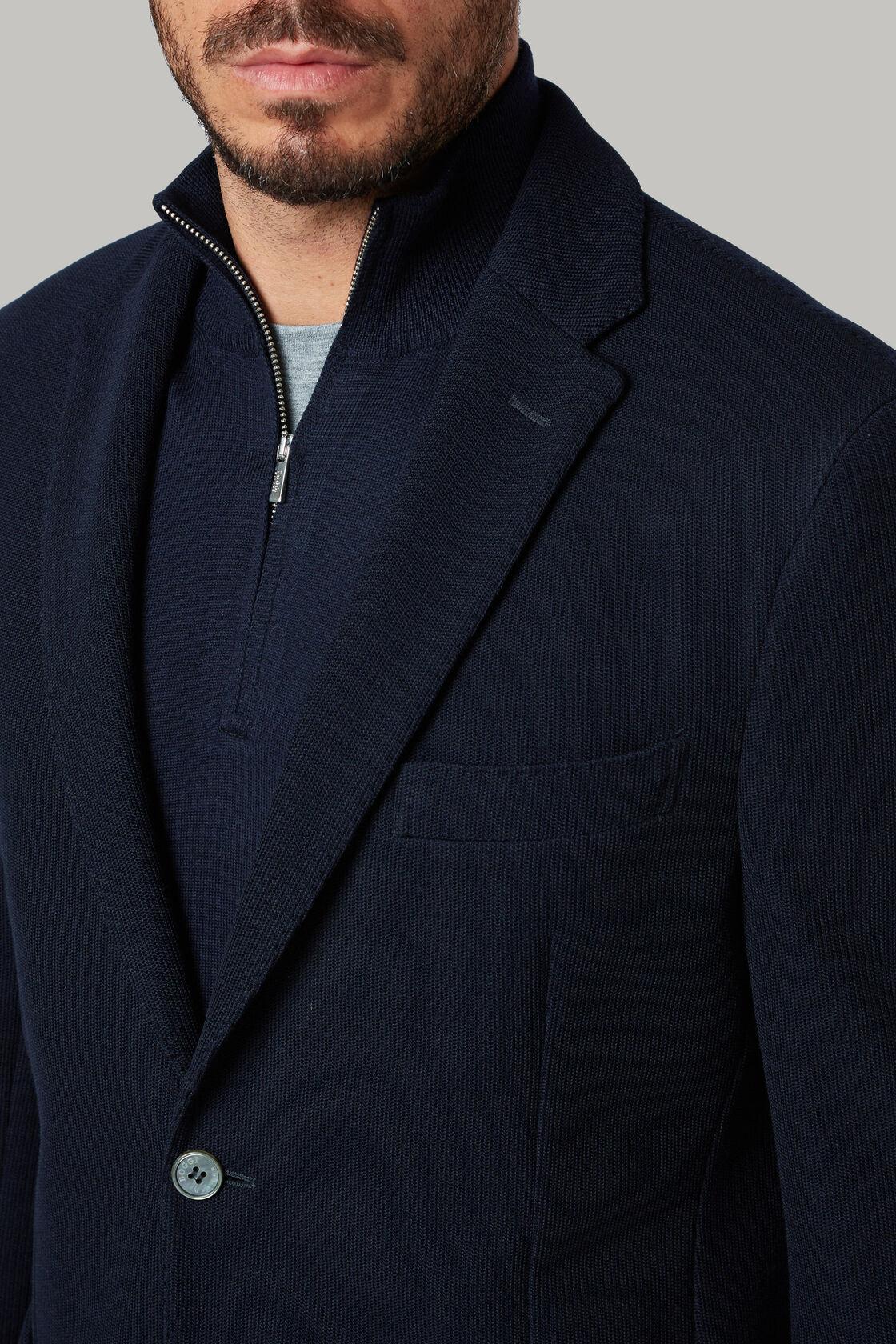 Blaues sakko aus b jersey-wolle, Blau, hi-res