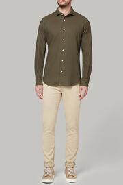 Military-hemd mit bowling kragen aus baumwolle regular fit, Militärgrün, hi-res