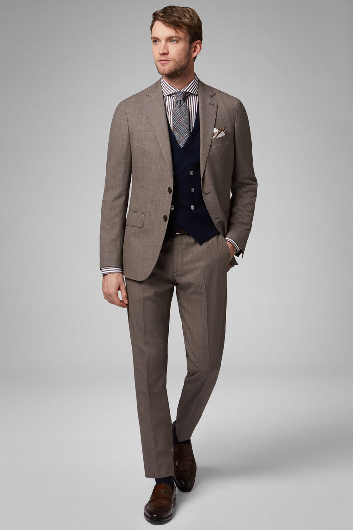 HAZELNUT WOOL BLEND NAPOLI SUIT, , hi-res