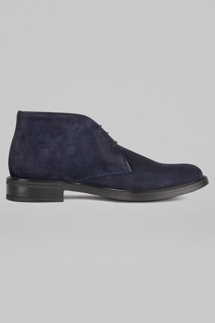 Suede Ankle Boots, Navy blue, hi-res