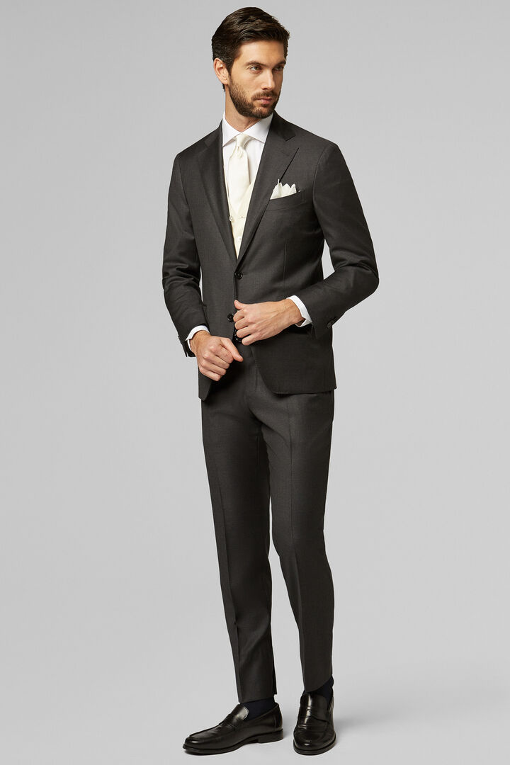Grey Four-Season Wool Napoli Suit, Grey, hi-res