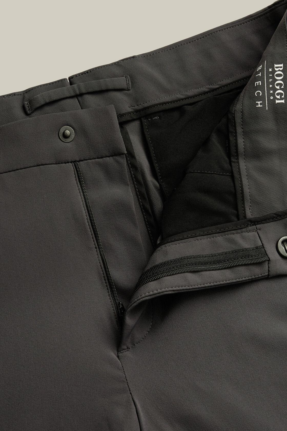 Pantaloni in nylon elasticizzato regular fit, Antracite, hi-res