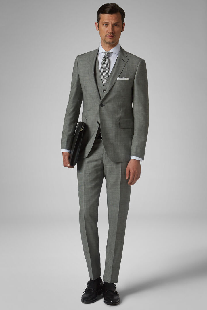 Grey Stretch Wool Nizza Suit, Grey, hi-res