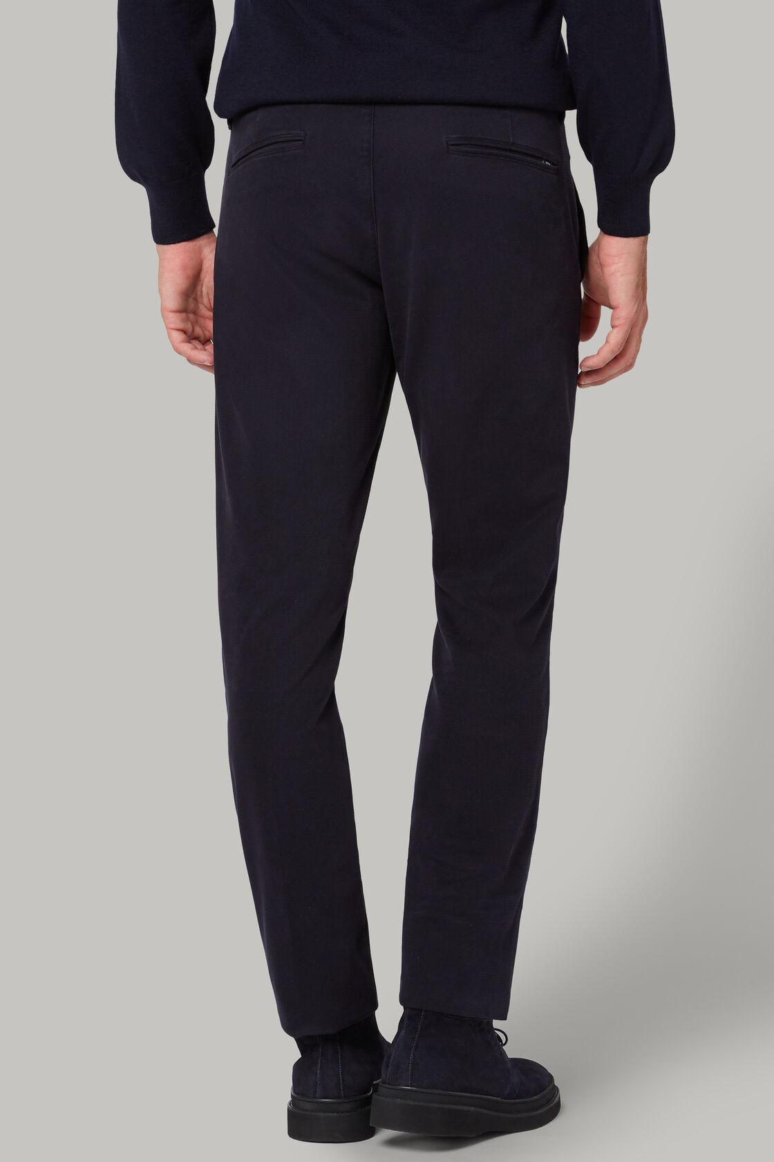 Hose aus baumwoll-tencel-stretch regular fit, Blau, hi-res