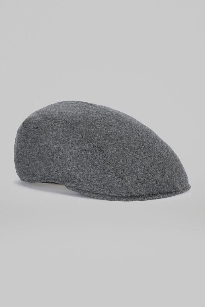 Cashmere Flat Cap, Dark Grey, hi-res
