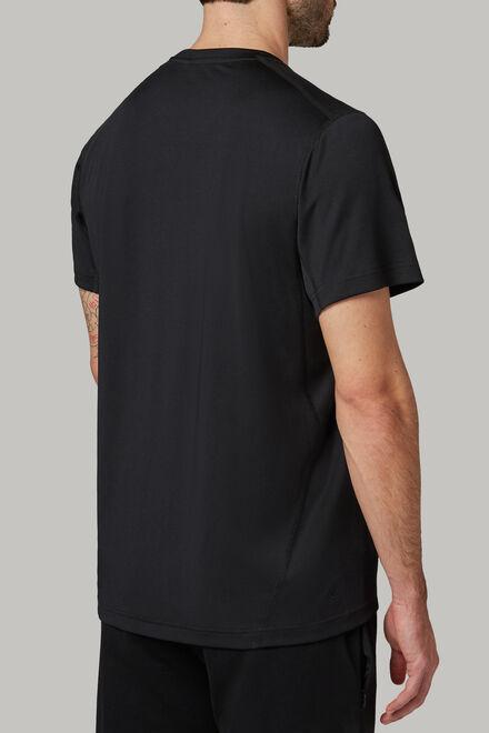 T-shirt aus technischem und hochwertigem jersey, Schwarz, hi-res