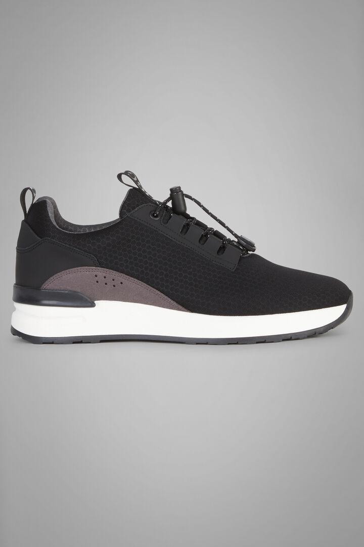 Sneakers Técnicas De Tela Y Piel, Negro, hi-res