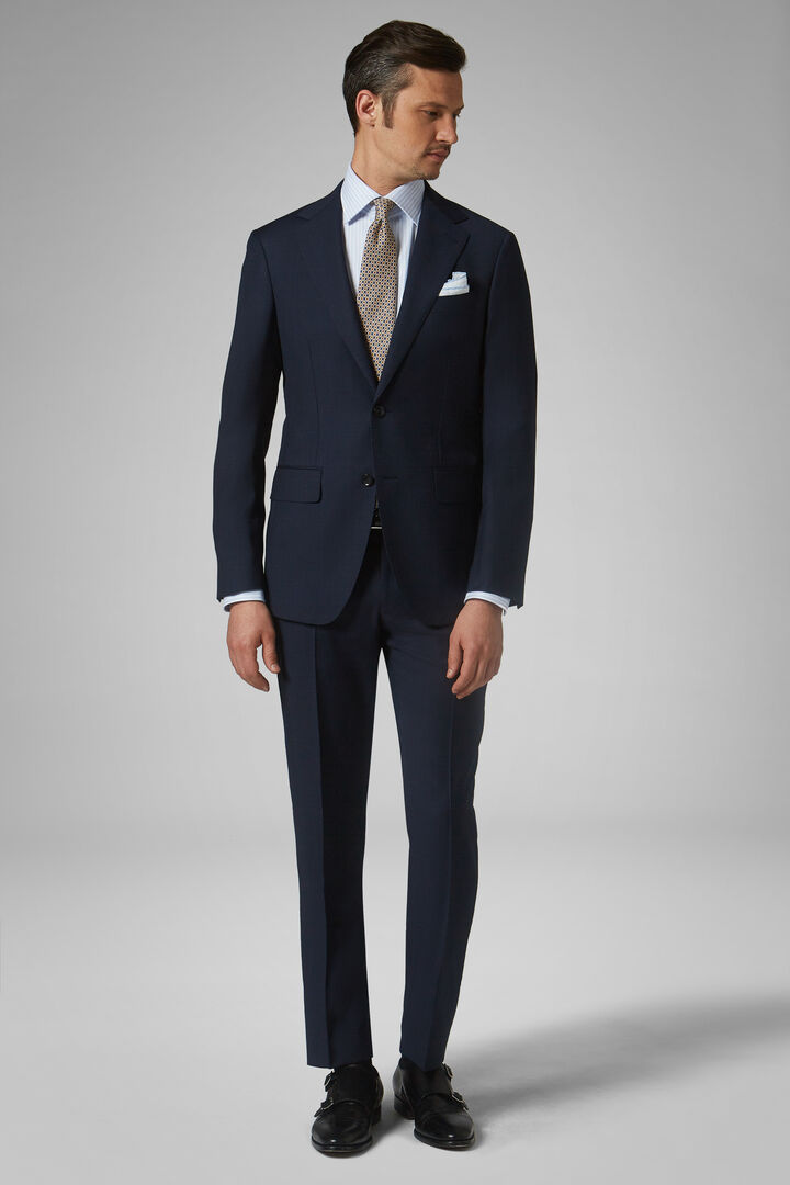 Blue Wool Milano Suit, Blue, hi-res