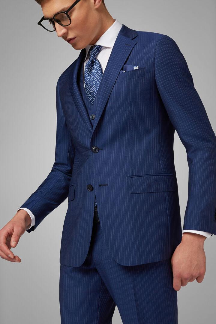 Anzug Anversa Blau Aus Wolle, Blau, hi-res