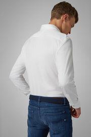 Polo Camicia Bianca Collo Chiuso Slim Fit, Bianco, hi-res