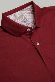 Polo in pique di cotone regular fit, Burgundy, hi-res