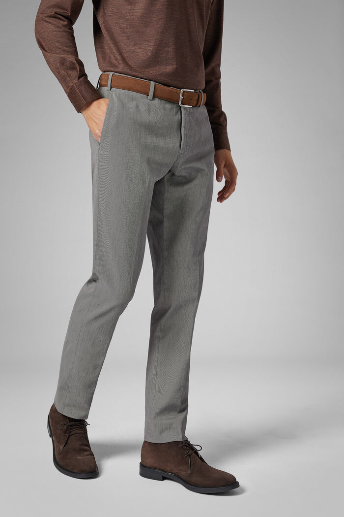 Regular Fit Stretch Cotton Drill Trousers, , hi-res