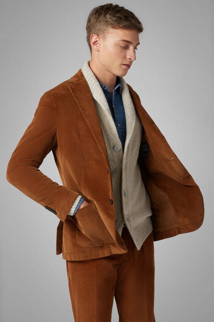 Ochre Velvet Brescia Suit Jacket, Ochre, hi-res