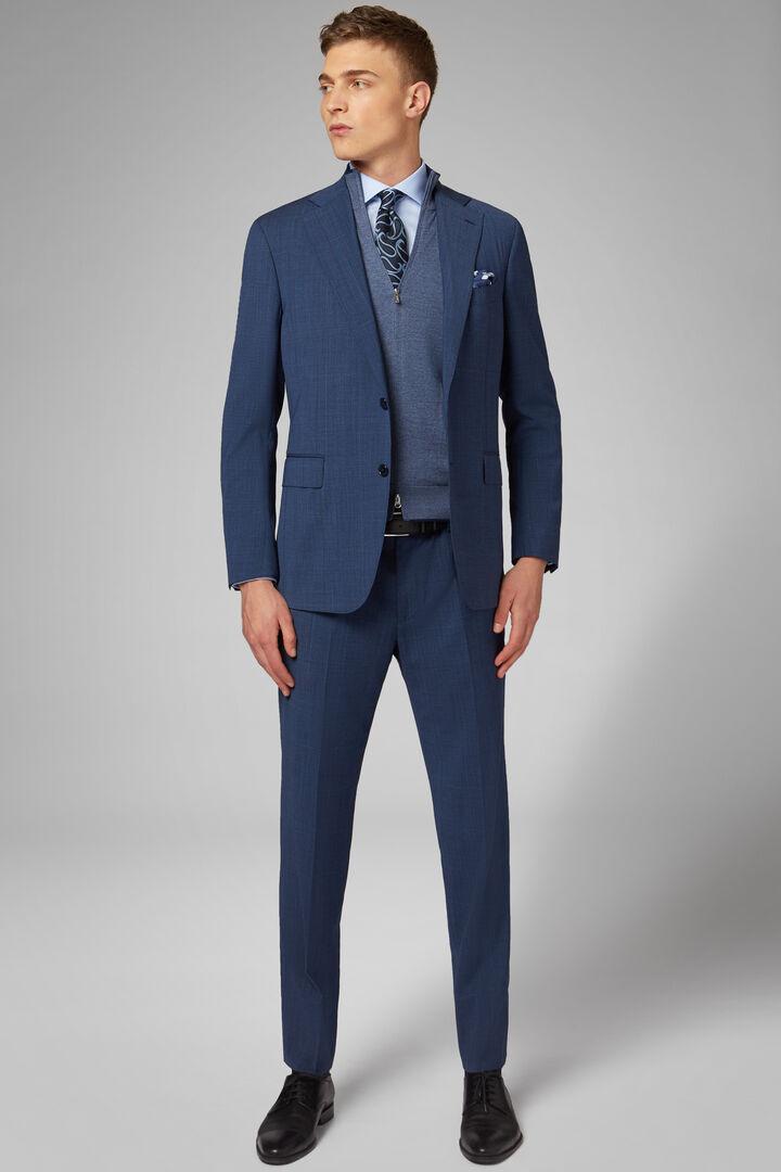 Costume Bleu Napoli En Laine, Bleu, hi-res