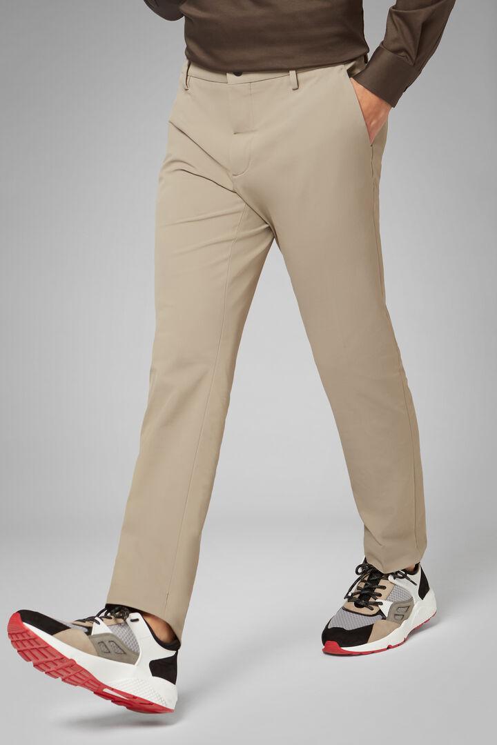 Regular Fit Technical Nylon Trousers, Beige, hi-res
