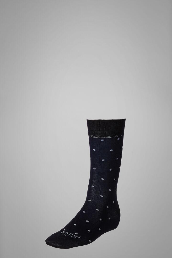 Chaussettes Courtes Motif À Pois, Marine - Ice, hi-res