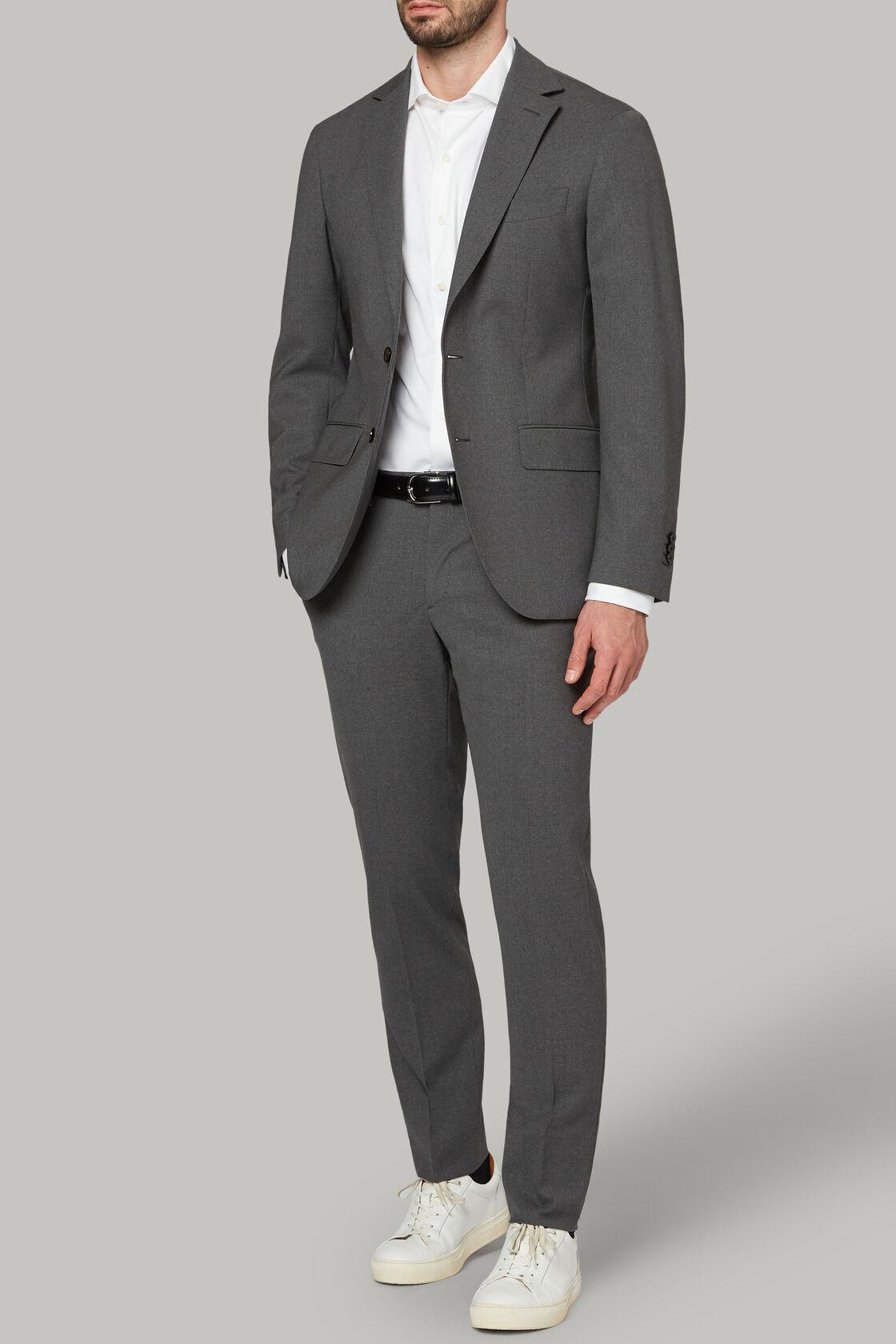 Grauer Travel Anzug aus Wolle, , hi-res