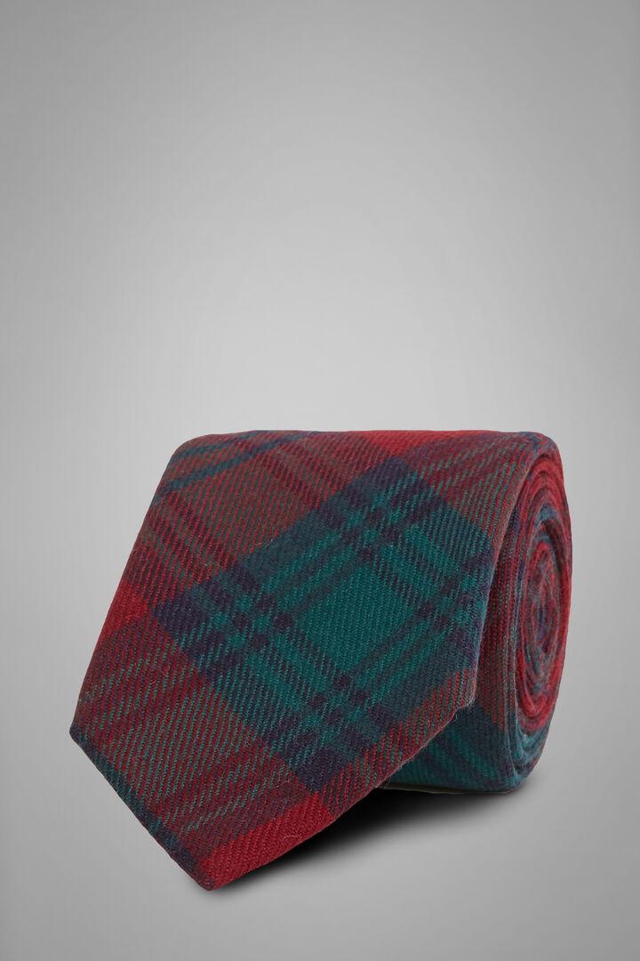 Prince Of Wales Krawatte Aus Wolle, Burgund, hi-res