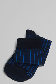 CALZA CORTA IN COTONE STRETCH, BLU - BLUETTE, hi-res