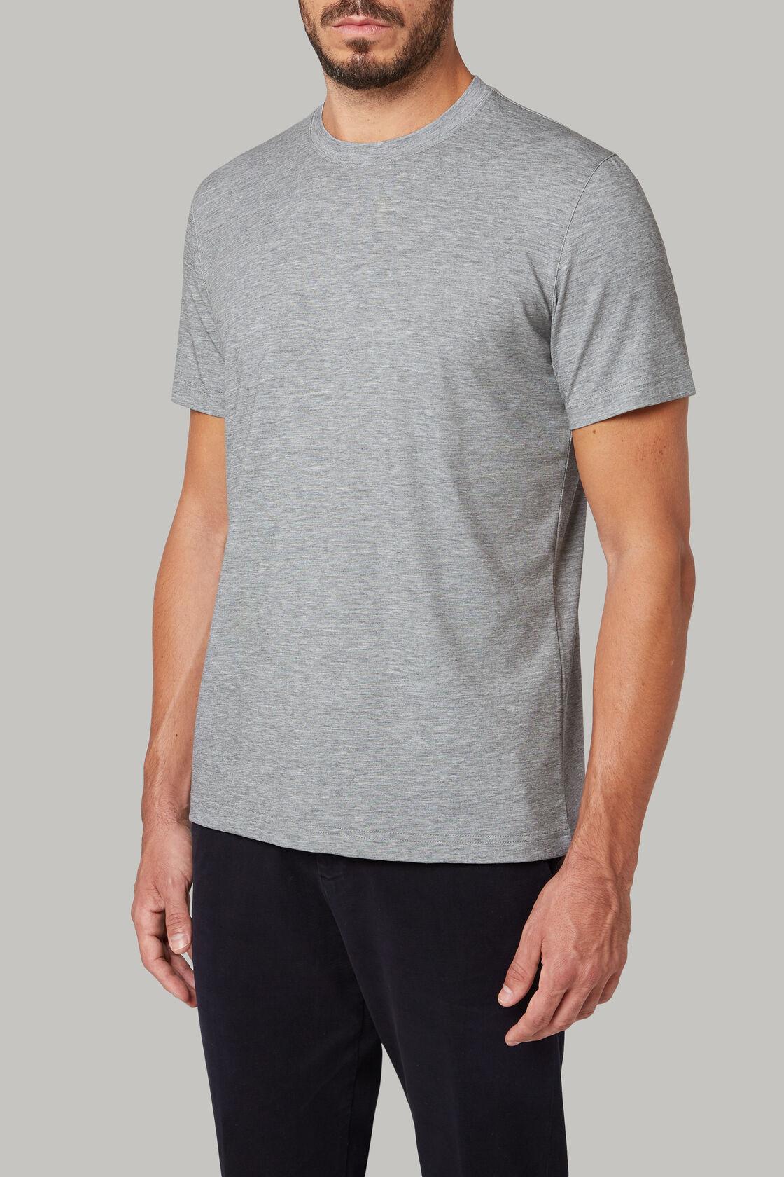 T-shirt aus baumwolljersey und nylon-tencel, Dunkelgrau, hi-res