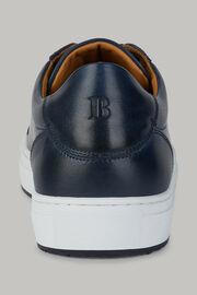 Sneakers navy in pelle, Navy, hi-res