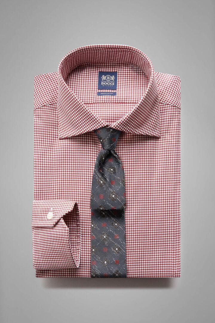 Regular Fit Burgundy Shirt With Windsor Collar, Burgundy, hi-res